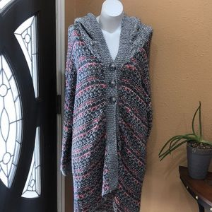 Free people intimately  knit hooded cardigan